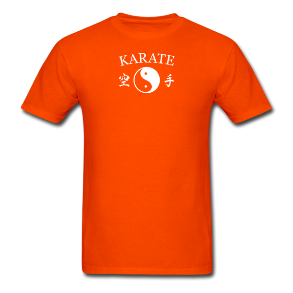 Karate Yin and Yang Kanji-Shirt - orange
