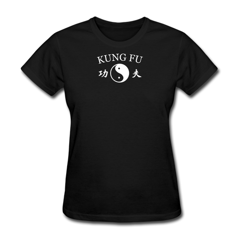 Kung Fu Yin and Yang Kanji T-Shirt - black