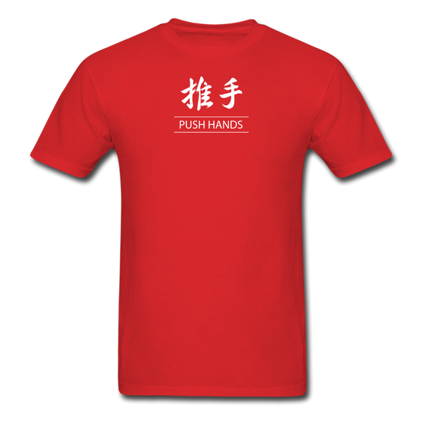 Push Hands Kanji T-Shirt - red