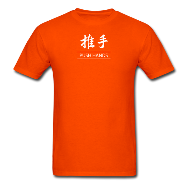 Push Hands Kanji T-Shirt - orange