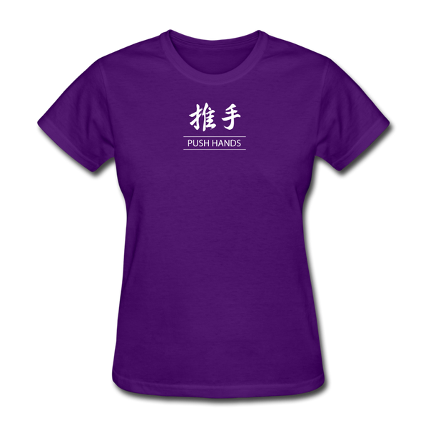 Push Hands Kanji T-Shirt - purple