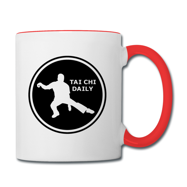 Tai Chi Daily Mug - white/red