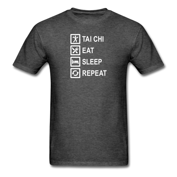 Tai Chi, Eat Sleep, Repeat T-Shirt - heather black