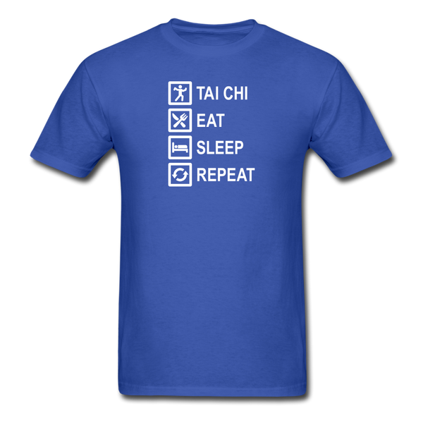 Tai Chi, Eat Sleep, Repeat T-Shirt - royal blue