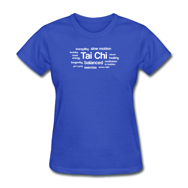 Tai Chi Health Benefits T-Shirt - royal blue
