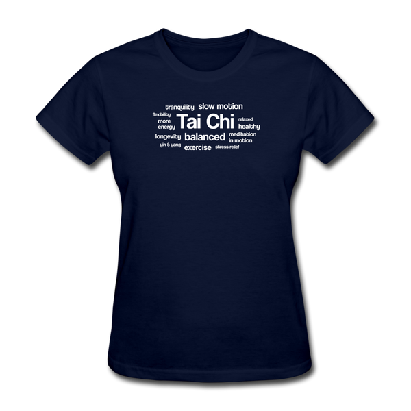 Tai Chi Health Benefits T-Shirt - navy