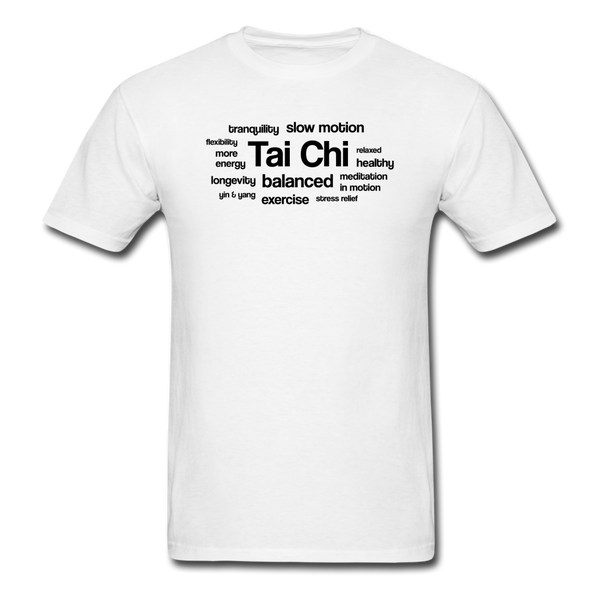Tai Chi Health Benefits T-Shirt - white