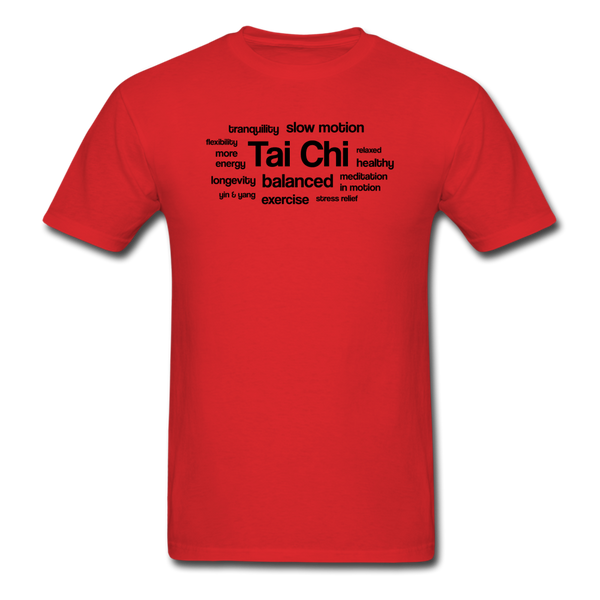 Tai Chi Health Benefits T-Shirt - red