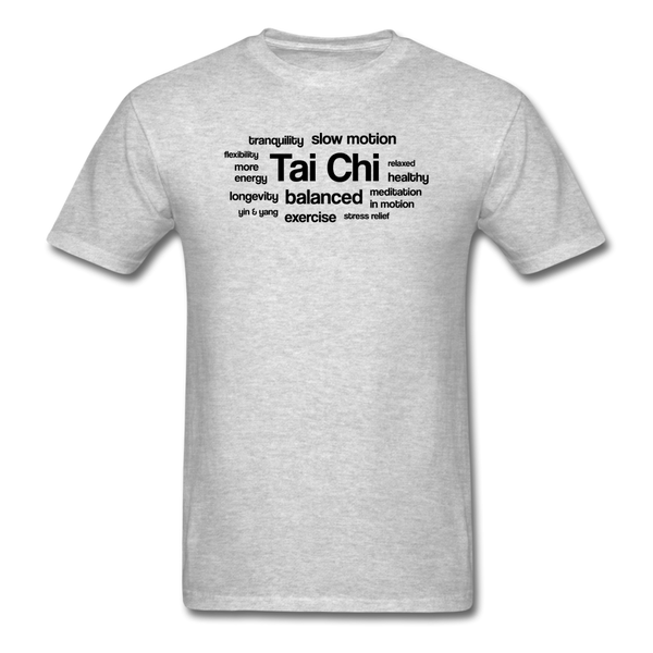 Tai Chi Health Benefits T-Shirt - heather gray