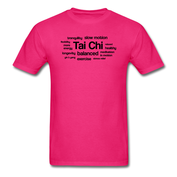 Tai Chi Health Benefits T-Shirt - fuchsia