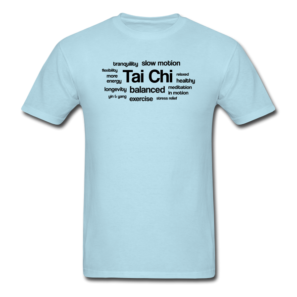 Tai Chi Health Benefits T-Shirt - powder blue