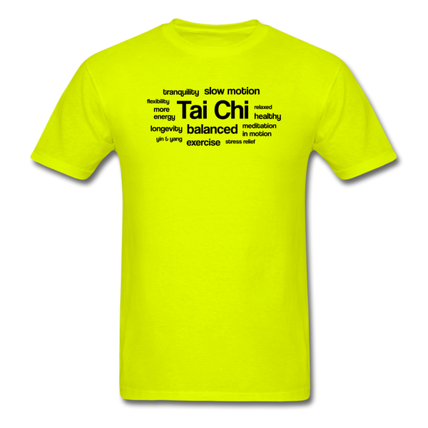 Tai Chi Health Benefits T-Shirt - safety green