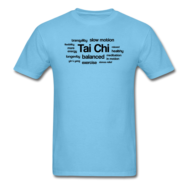 Tai Chi Health Benefits T-Shirt - aquatic blue