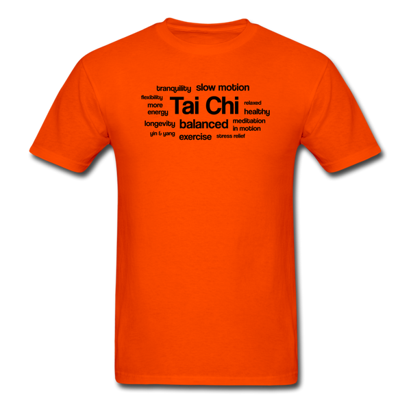 Tai Chi Health Benefits T-Shirt - orange