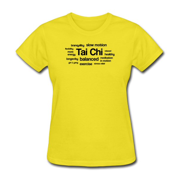 Tai Chi Health Benefits T-Shirt - yellow