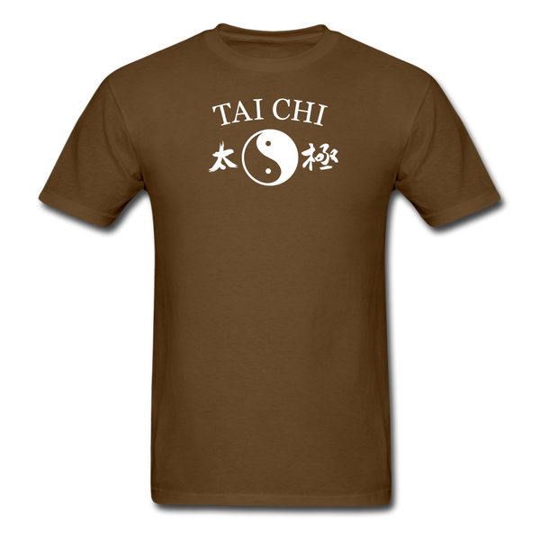 Tai Chi Yin and Yang with Kanji T-Shirt - brown