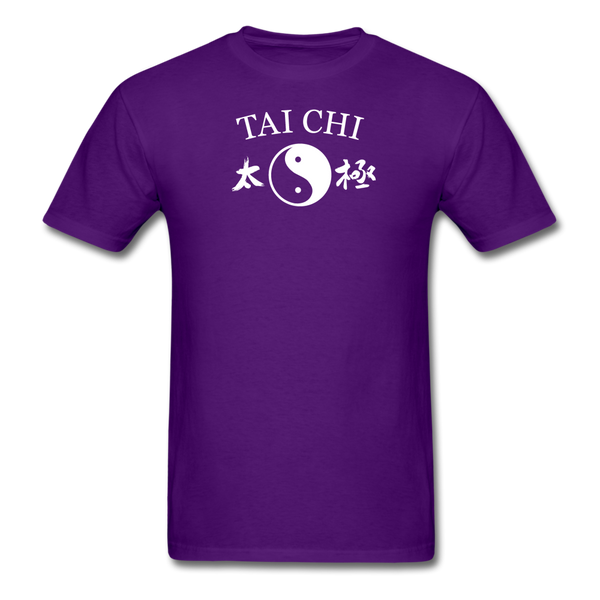 Tai Chi Yin and Yang with Kanji T-Shirt - purple