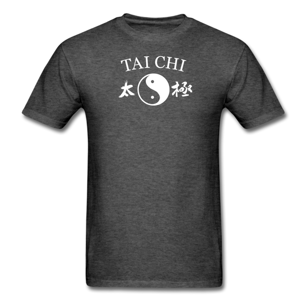 Tai Chi Yin and Yang with Kanji T-Shirt - heather black