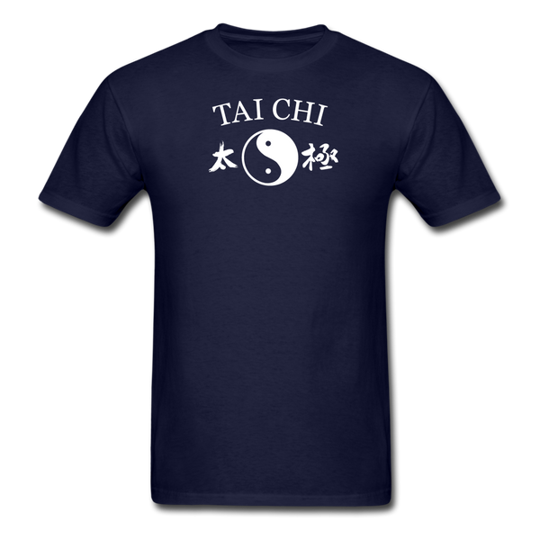 Tai Chi Yin and Yang with Kanji T-Shirt - navy