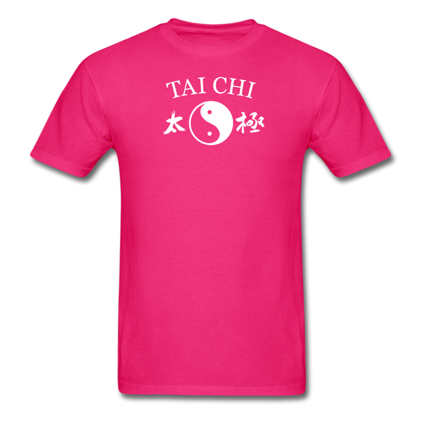 Tai Chi Yin and Yang with Kanji T-Shirt - fuchsia