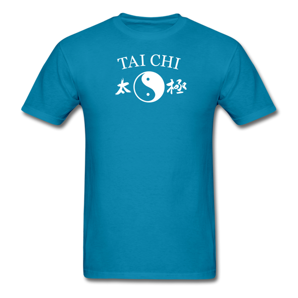 Tai Chi Yin and Yang with Kanji T-Shirt - turquoise