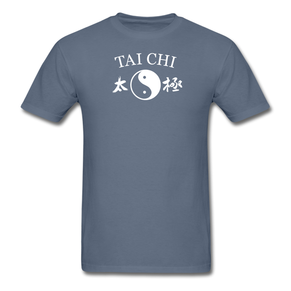 Tai Chi Yin and Yang with Kanji T-Shirt - denim