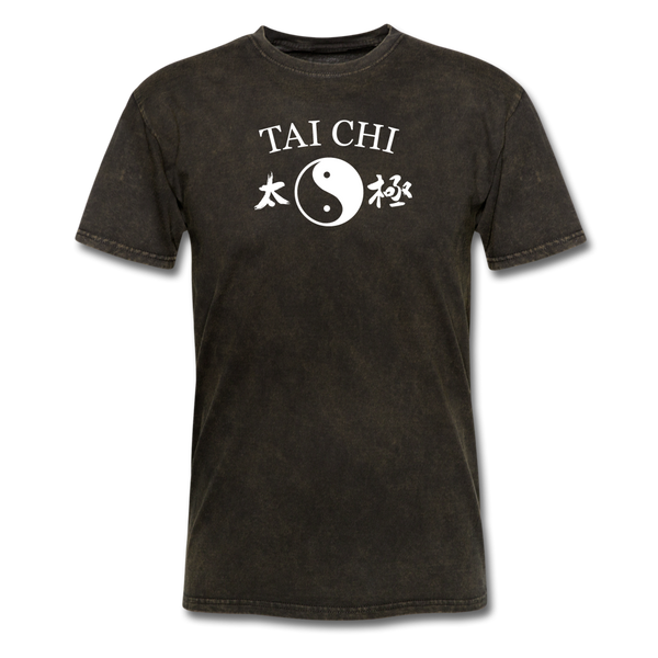 Tai Chi Yin and Yang with Kanji T-Shirt - mineral black