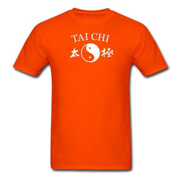 Tai Chi Yin and Yang with Kanji T-Shirt - orange