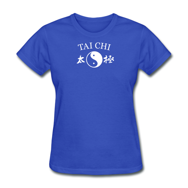 Tai Chi Yin and Yang with Kanji T-Shirt - royal blue