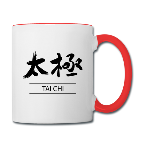 Tai Chi Mug - white/red