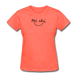 Tai Chi Smile T-Shirt - heather coral