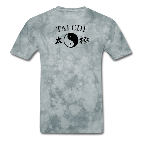 Tai Chi Yin and Yang T-Shirt - grey tie dye