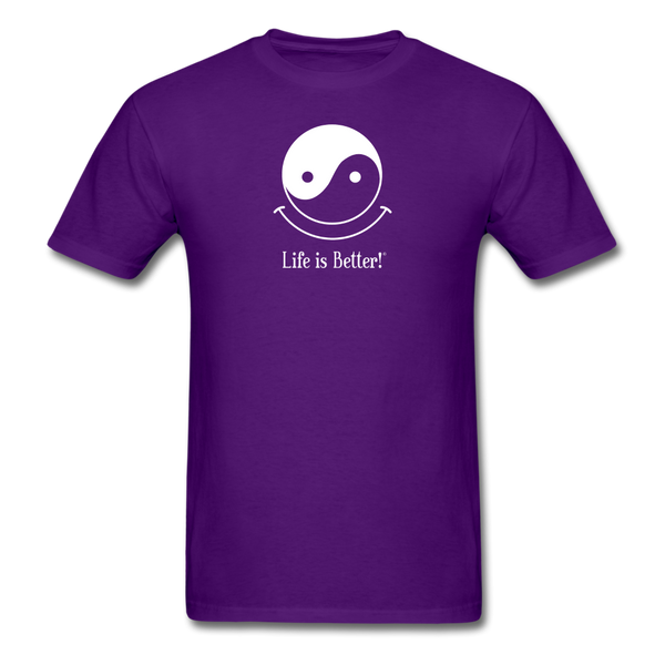 Yin and Yang Life is Better!® Men's T-Shirt - purple