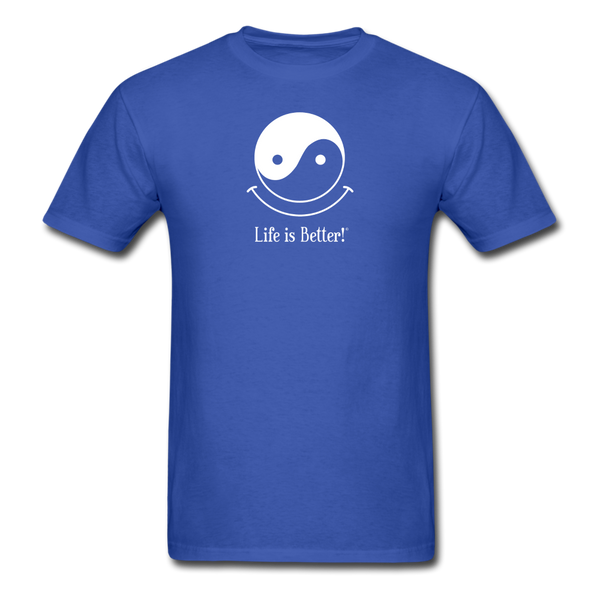 Yin and Yang Life is Better!® Men's T-Shirt - royal blue