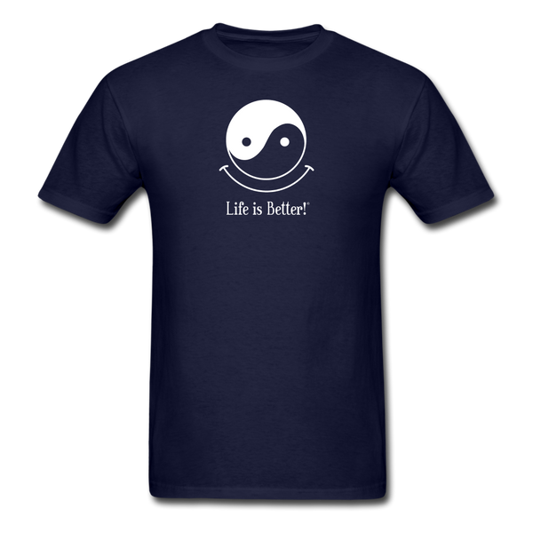 Yin and Yang Life is Better!® Men's T-Shirt - navy
