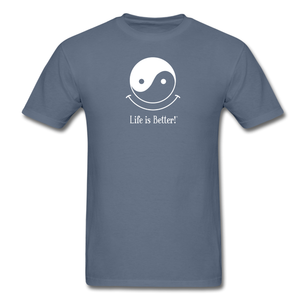 Yin and Yang Life is Better!® Men's T-Shirt - denim