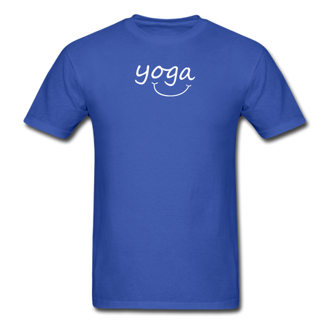 Yoga with a Smile Men's T-Shirt - royal blue
