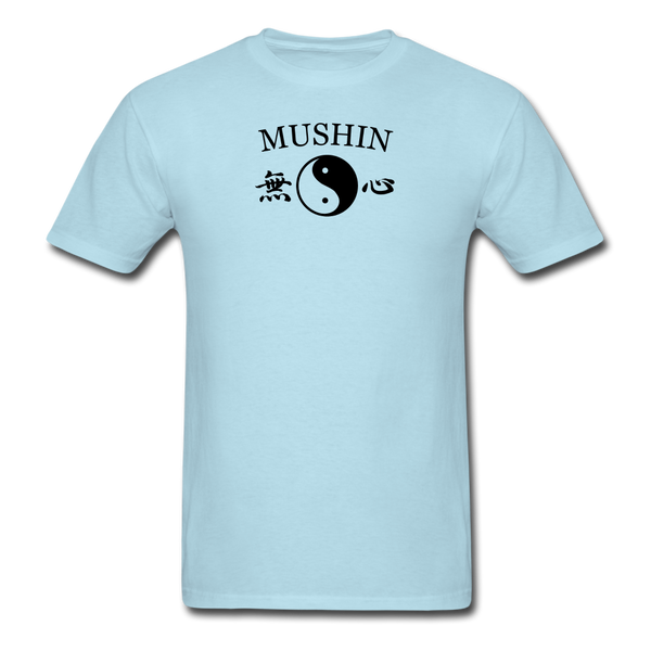 Mushin Kanji with Yin and Yang Men's T-Shirt - powder blue