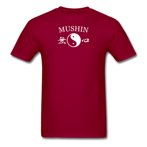 Mushin Kanji with Yin and Yang Men's T-Shirt - dark red