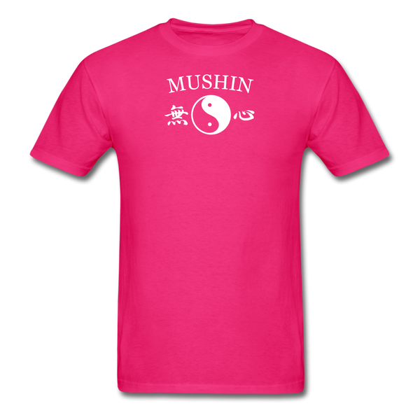 Mushin Kanji with Yin and Yang Men's T-Shirt - fuchsia
