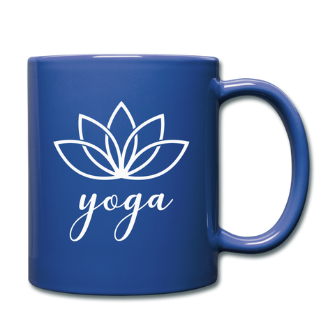 Yoga Coffee Mug - royal blue
