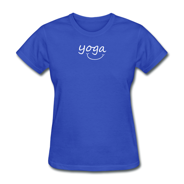 Yoga with a Smile Women's T-Shirt - royal blue