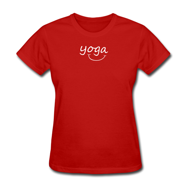 Yoga with a Smile Women's T-Shirt - red