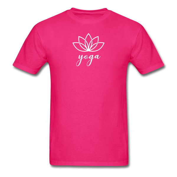 Men's Yoga T-Shirt - fuchsia