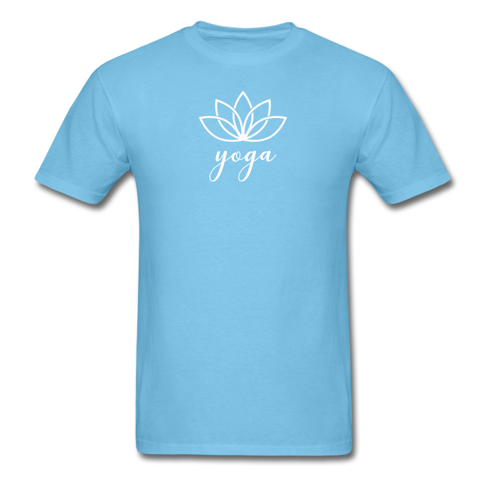 Men's Yoga T-Shirt - aquatic blue