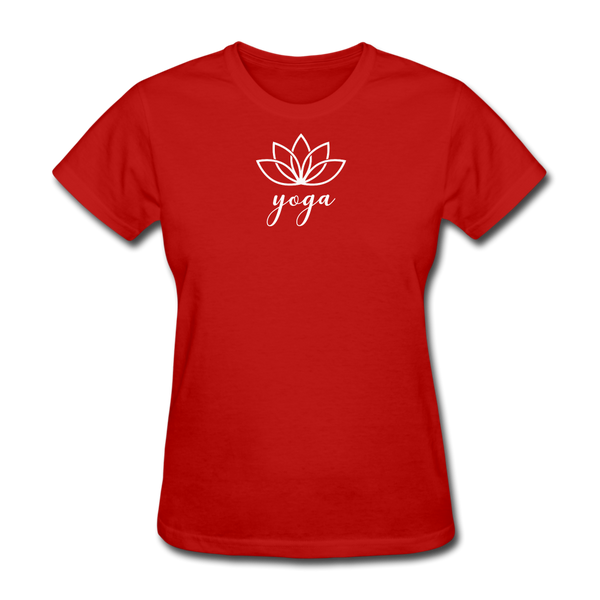 Women's Yoga T-Shirt - red