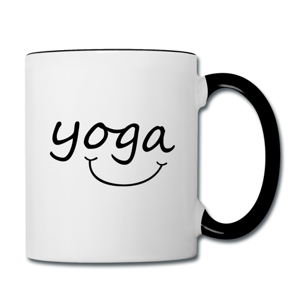 Yoga with a Smile Mug - white/black