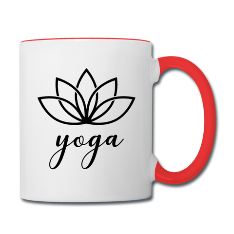 Yoga Mug - white/red