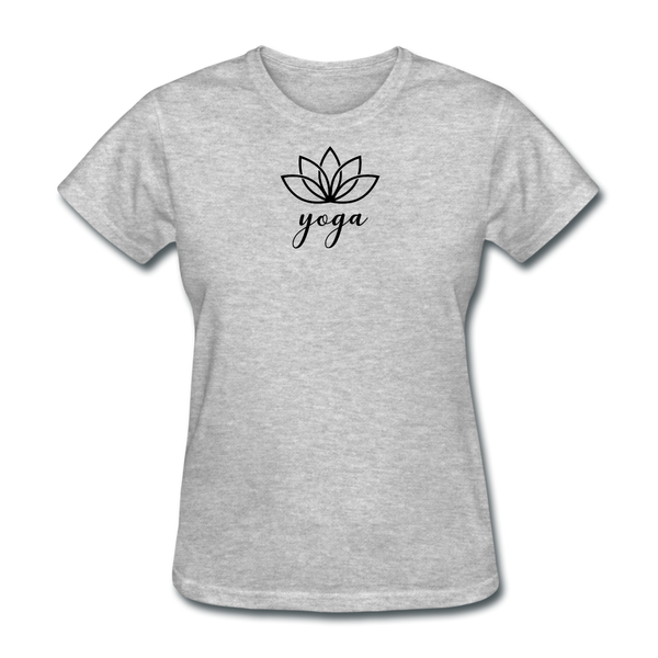 Women's Yoga T-Shirt - heather gray