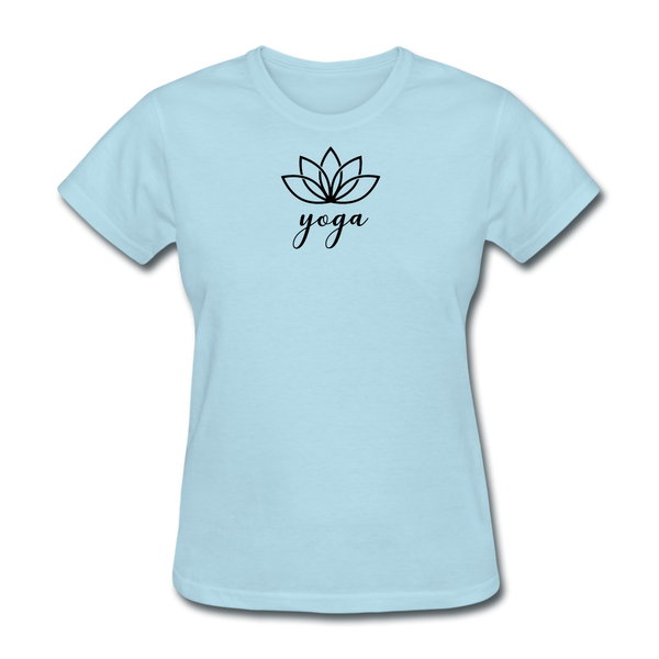Women's Yoga T-Shirt - powder blue